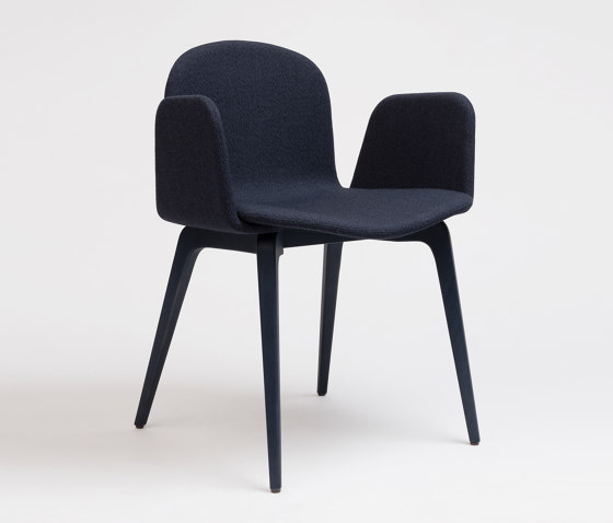 Bob XL Wood Chair With Armrests by ONDARRETA | Chairs