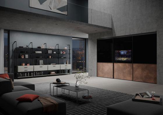 S 1200 sliding tv door de raumplus | Armoires multimédia