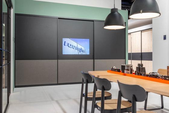 S 1200 sliding tv door by raumplus | Multimedia cabinets