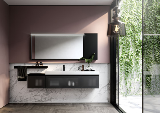 Cubik 2 by Ideagroup | Wall cabinets