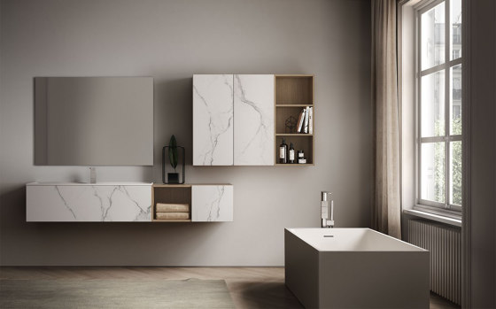 Dogma 1 by Ideagroup | Wall cabinets