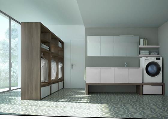 Spazio Time 6 by Ideagroup | Mirror cabinets