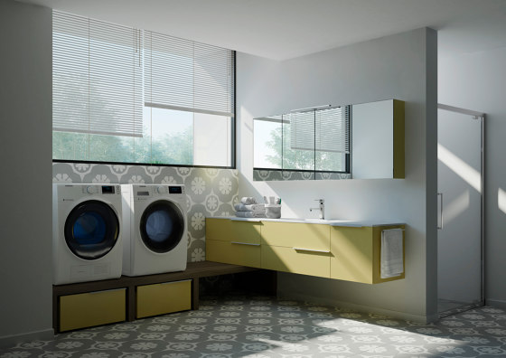 Spazio Time 7 by Ideagroup | Mirror cabinets