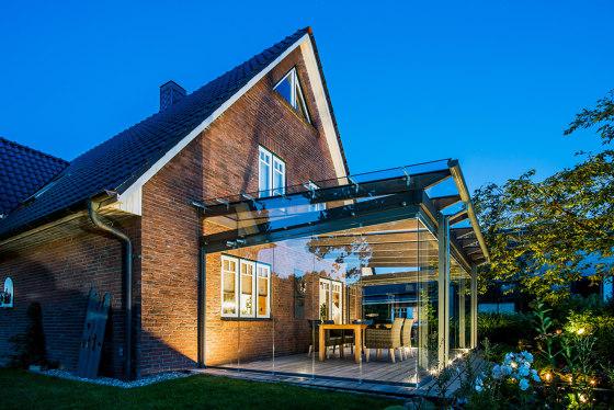 Glass canopy SDL Aura by Solarlux | Winter gardens