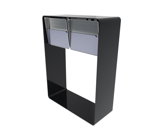 """Bellus Briefkastenständer   Design letter box """"Bellus"""", doublehorizontal by x-level   Mailboxes"""
