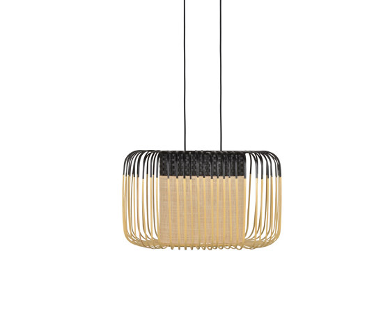 Bamboo Oval | Pendant Lamp | S Black by Forestier | Suspended lights