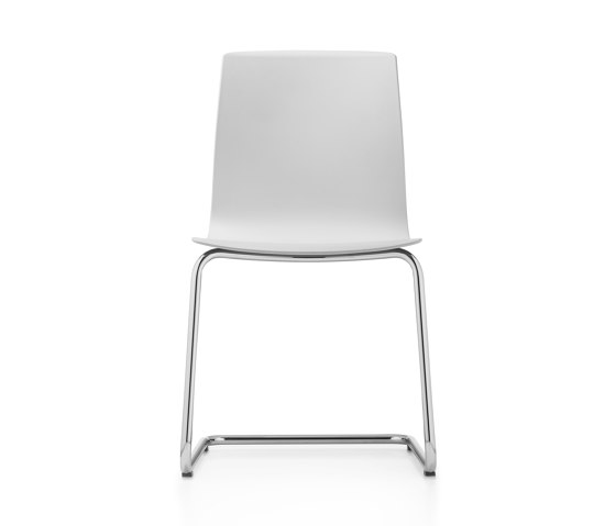 Fiore MicroSilver cantilever chair by Dauphin | Chairs