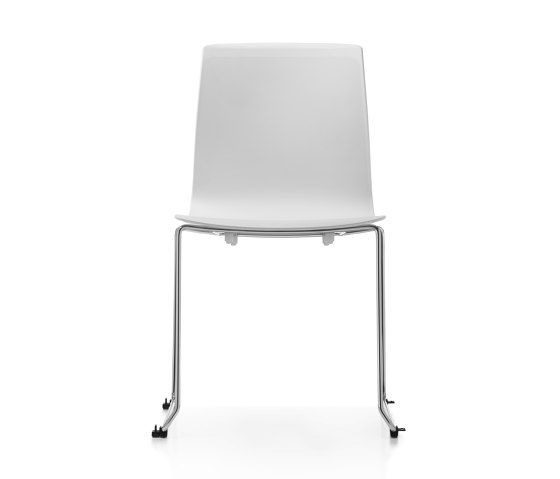 Fiore MicroSilver skid base by Dauphin | Chairs