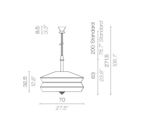 CALYPSO SO XL ANTIGUA OUTDOOR by Contardi Lighting   Outdoor pendant lights