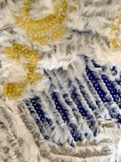 Celerina col. 102 yellow/blue/white by Jakob Schlaepfer | Drapery fabrics