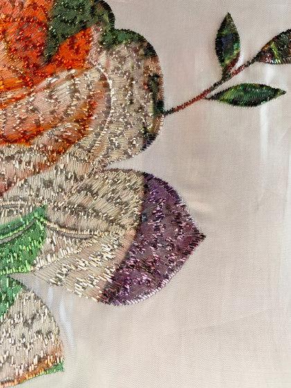 Elodie col. 101 silver/multicolor by Jakob Schlaepfer | Drapery fabrics