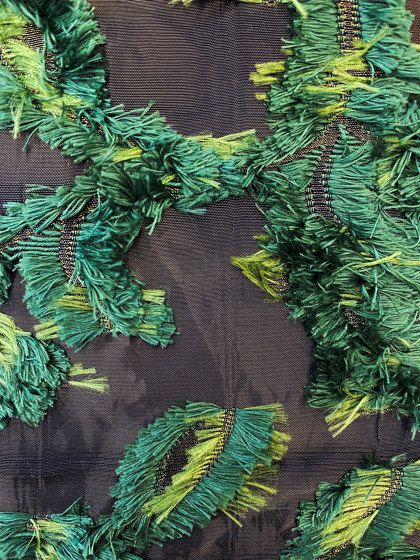 Frangia col. green by Jakob Schlaepfer | Drapery fabrics