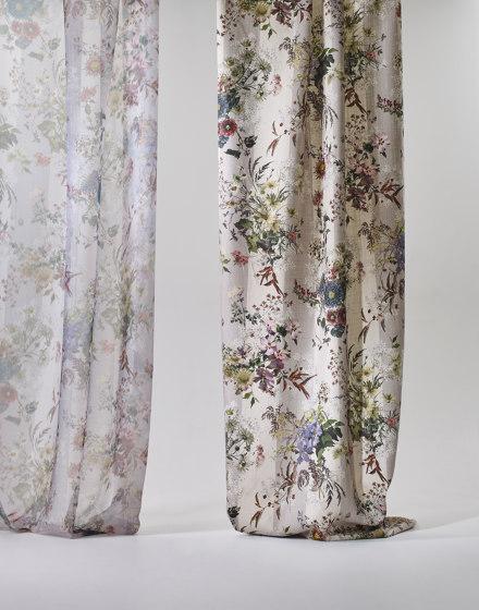 Linella col. 101 multicolor/gray by Jakob Schlaepfer | Drapery fabrics