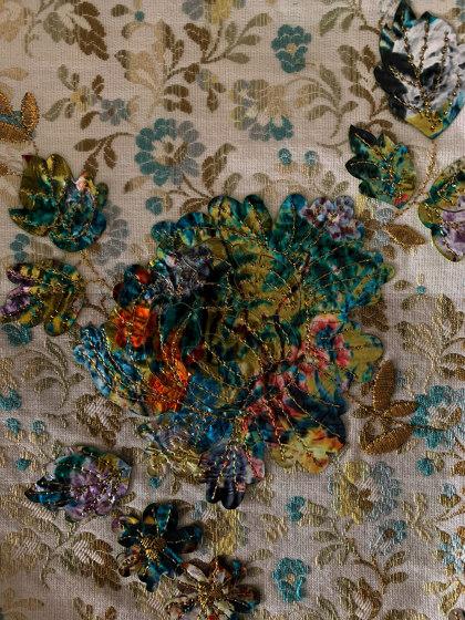 Nanette col. 201 ecru/brown/gray by Jakob Schlaepfer | Drapery fabrics