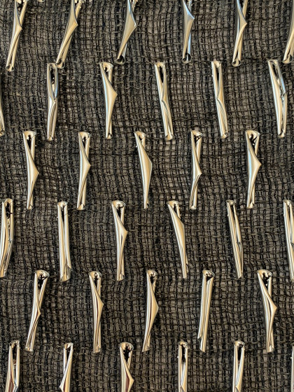 Scrollino col. 103 anthracite/silver by Jakob Schlaepfer | Drapery fabrics