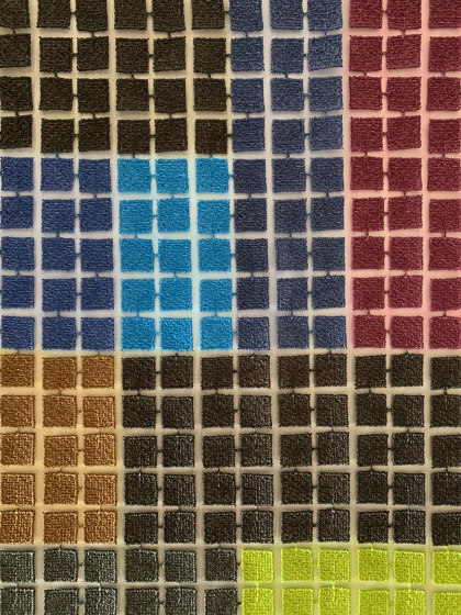 Sophie col. 202 brown/multicolor by Jakob Schlaepfer   Drapery fabrics