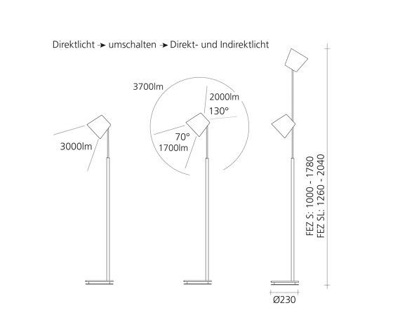 FEZ S / DTW by Baltensweiler | Free-standing lights