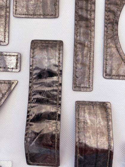 Qina col. 201 ecru/silver by Jakob Schlaepfer | Drapery fabrics