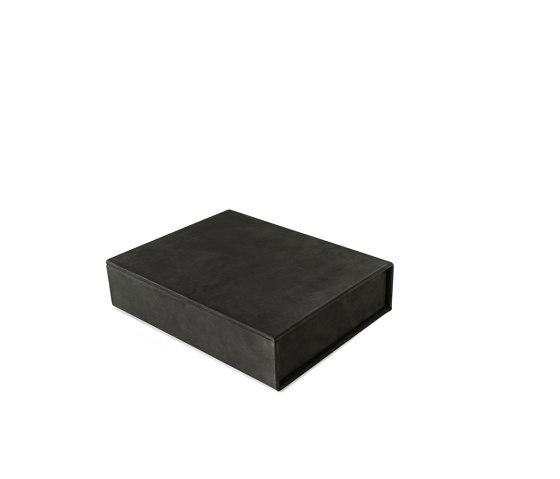 Bookbox dark grey nubuck medium by August Sandgren A/S | Storage boxes