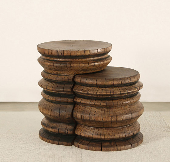 Andra Turned Wood Nesting Tables by Pfeifer Studio   Side tables