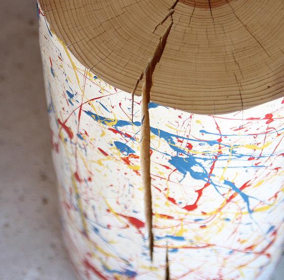 JP Splatter Painted Log Table by Pfeifer Studio | Side tables