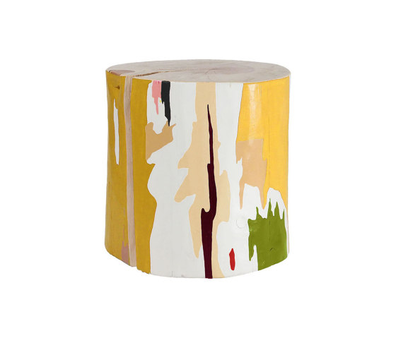 Tachi Hand Painted Log Table by Pfeifer Studio | Side tables