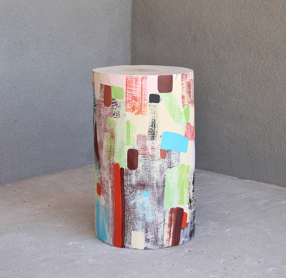 Ximena Hand Painted Log Table by Pfeifer Studio | Side tables