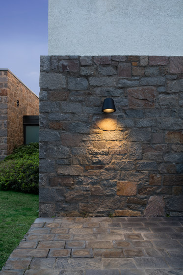Tumbler wall application by URBIDERMIS SANTA & COLE | Outdoor wall lights