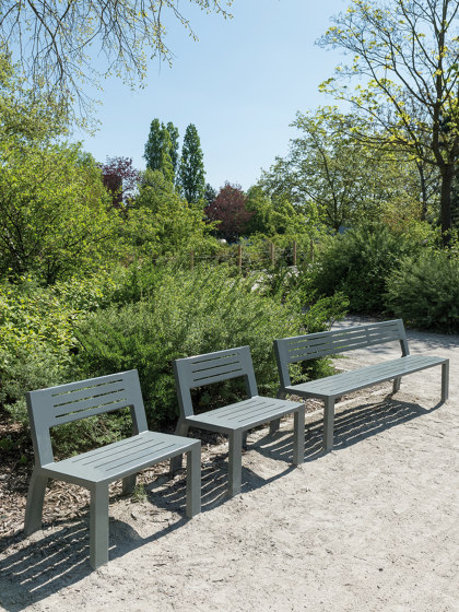 Cléa Full-Steel Bench by UNIVERS & CITÉ | Benches