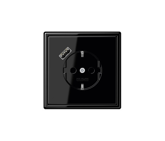 LS 990 | USB-A SCHUKO-Socket LS 990 black with Quick Charge by JUNG | Schuko sockets