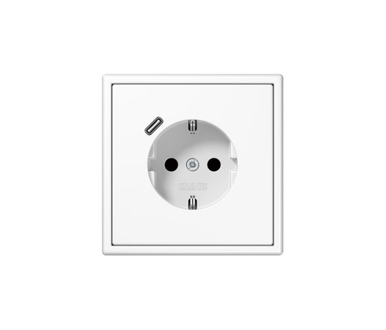 LS 990 | USB-C SCHUKO-Socket LS 990 white with Quick Charge by JUNG | Schuko sockets