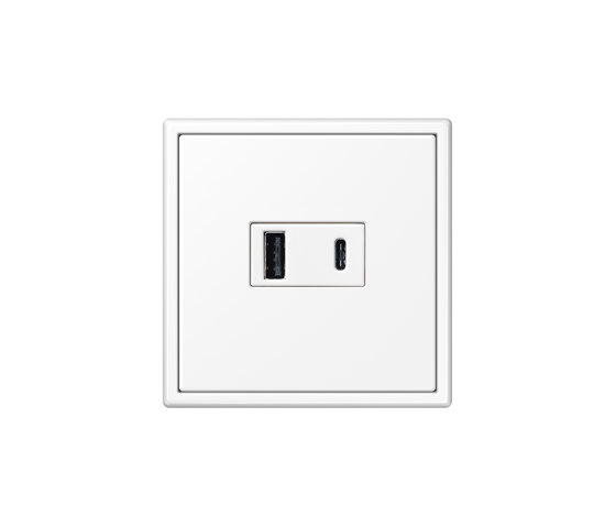 LS 990 | USB Charger USB-A/C LS 990 white by JUNG | USB power sockets