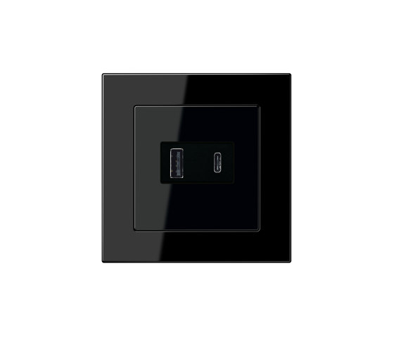 A 550 | USB Charger USB-A/C A 550 black by JUNG | USB power sockets