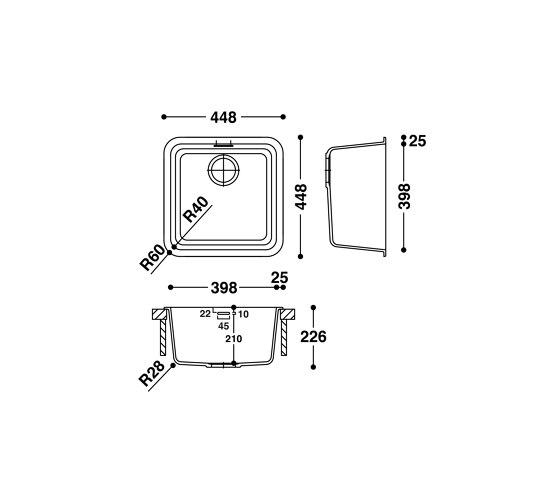 Sink CS398S by HI-MACS®   Kitchen sinks