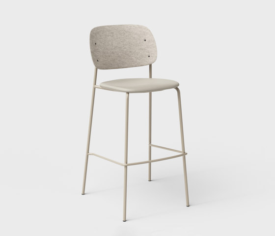 Hale PET Felt Bar Stool Upholstered by De Vorm | Bar stools
