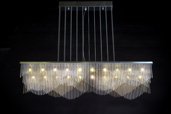Streamwave - 1200mm - Suspended by Willowlamp | Suspended lights