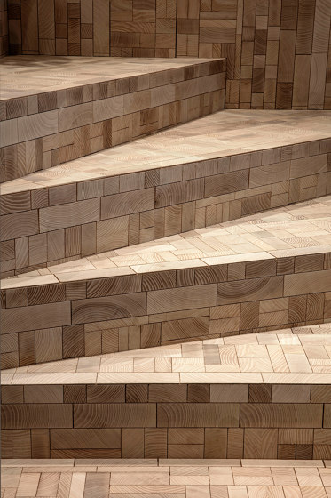 FORÊT STAIRS SOLUTION by Oscarono | Wood panels