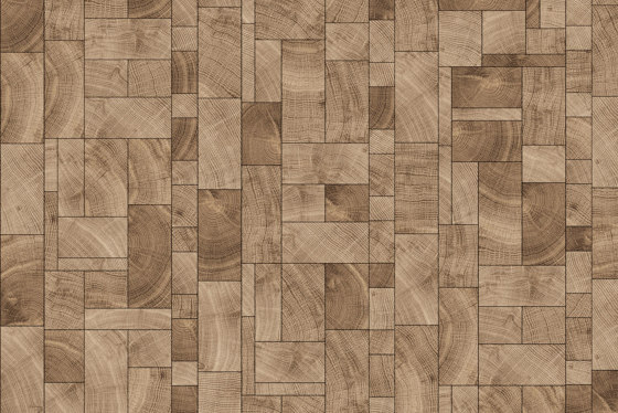 FORÊT SQUARE MIX NATURAL by Oscarono | Wood panels