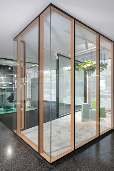 fecostruct wood by Feco | Wall partition systems