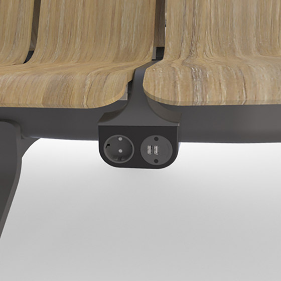 Stadium charger by Green Furniture Concept   Schuko sockets