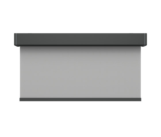 Closed cassette, motor-operated - powder coated RAL 7043 von Kvadrat Shade | Elektrozugsysteme