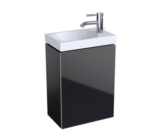 Acanto | handrinse basin cabinet black by Geberit | Vanity units