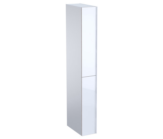 Acanto | tall cabinet with two cargos white by Geberit | Freestanding cabinets