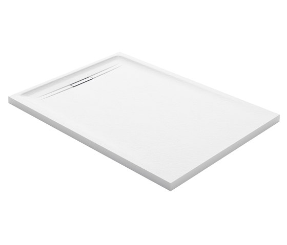 Floor-even shower solutions | shower surface Sestra white by Geberit | Shower trays