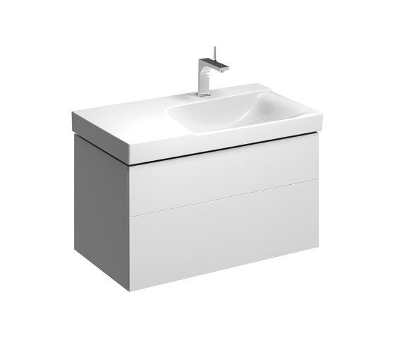 Xeno² | washbasin cabinet with two drawers white by Geberit | Vanity units