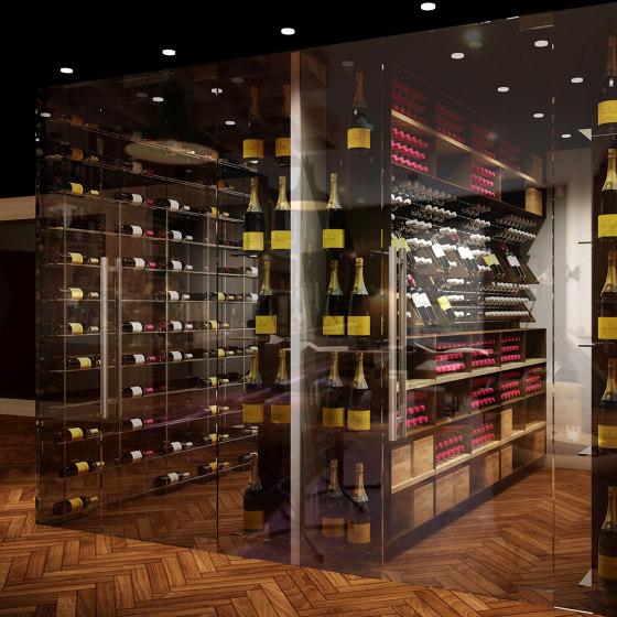 Commercial wine room by ESIGO | Cabinets