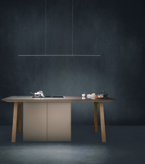 next125 cooking table Sand grey matt velvet by next125 | Island kitchens