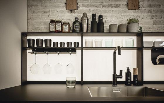 NX 640 quercia elegante grigio grafite di next125   Cucine parete