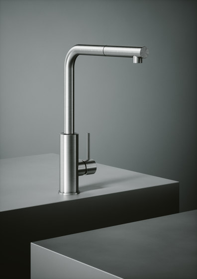 Kitchen Inox   Stainless steel AISI316L kitchen sink mixer with swivel spout. by Quadrodesign   Kitchen taps