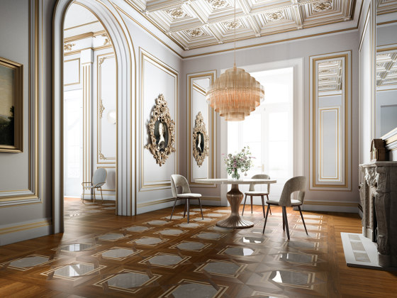 Marquetry 226 Verniciato Naturale by Itlas | Wood flooring